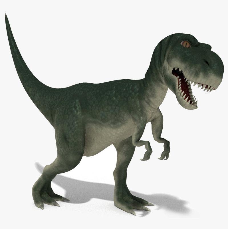 3d model tyranosaurus rigged