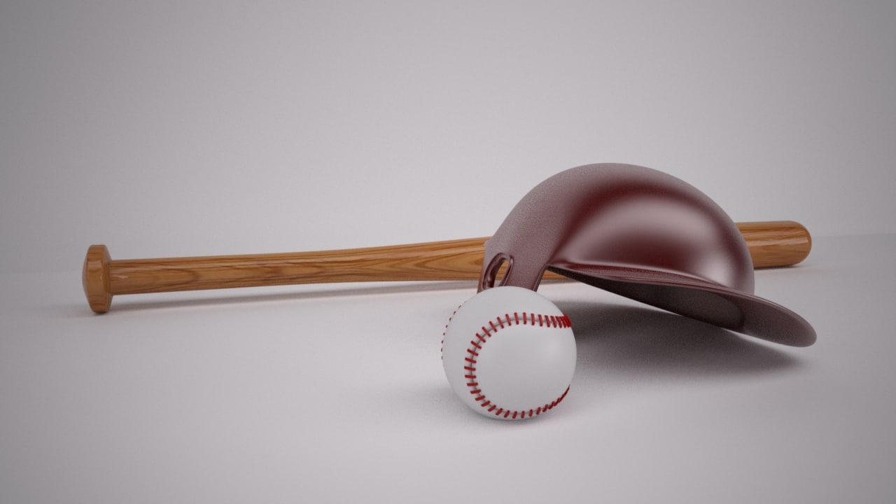 3ds max baseball bat helmet
