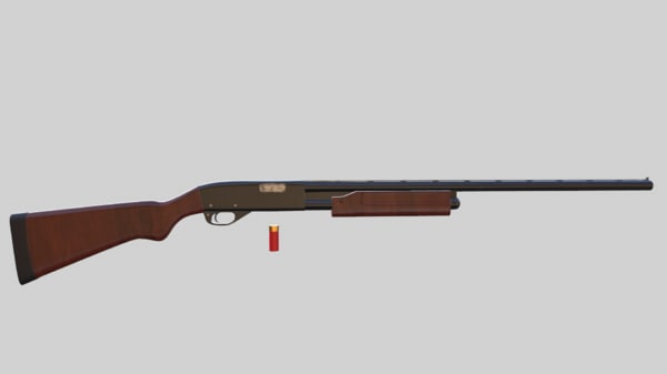 3ds max shotgun gun 870
