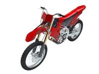 motocross bike 3d model