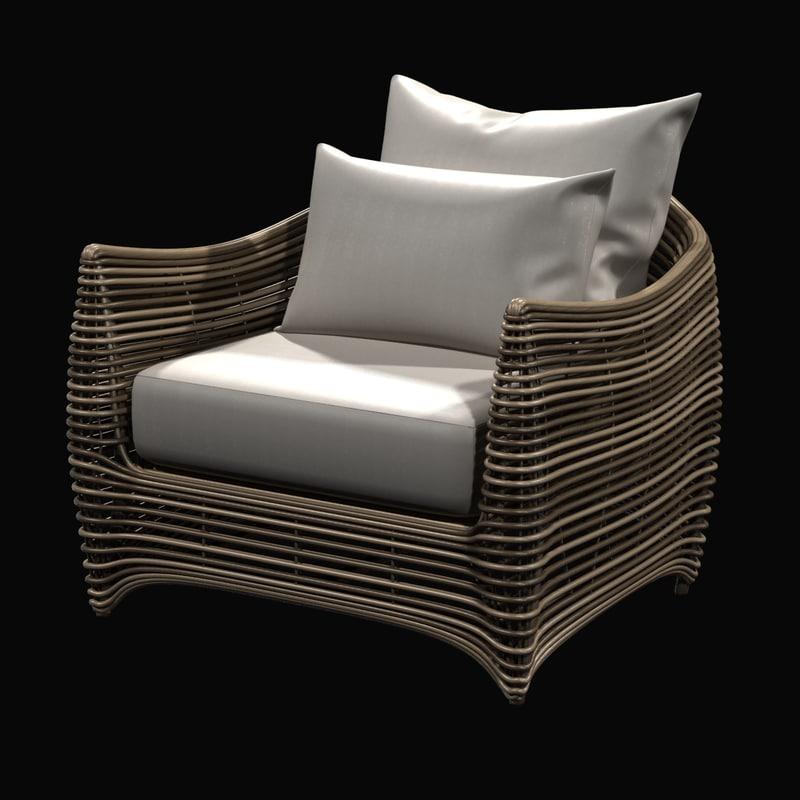 chair artefacto st bart 3d model
