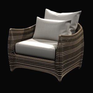 chair artefacto st bart 3d model