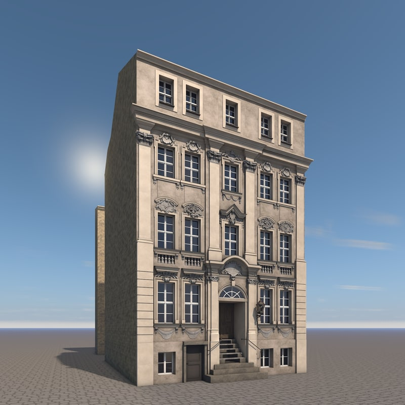 3d model of residential house berlin kleine