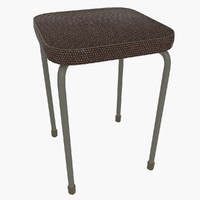 leather stool 3d model