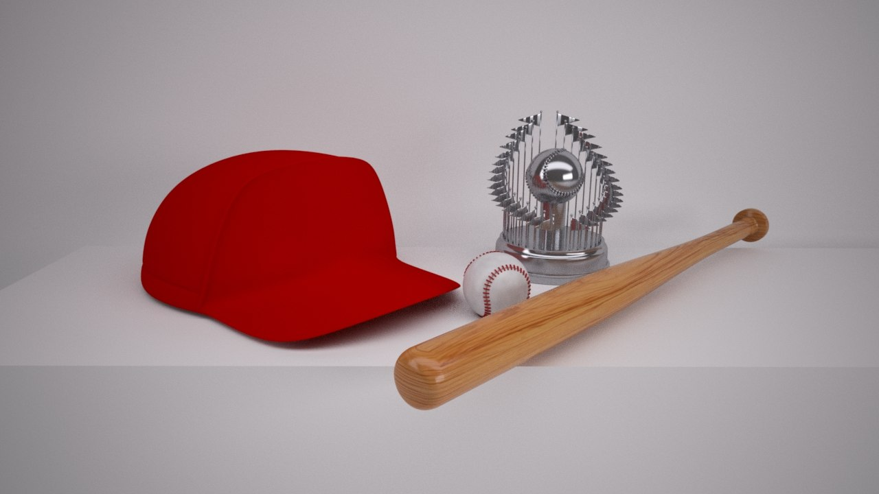 3d baseball bat trophy cap