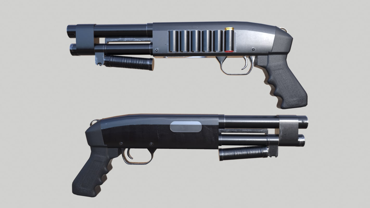3ds max shotgun aow remington