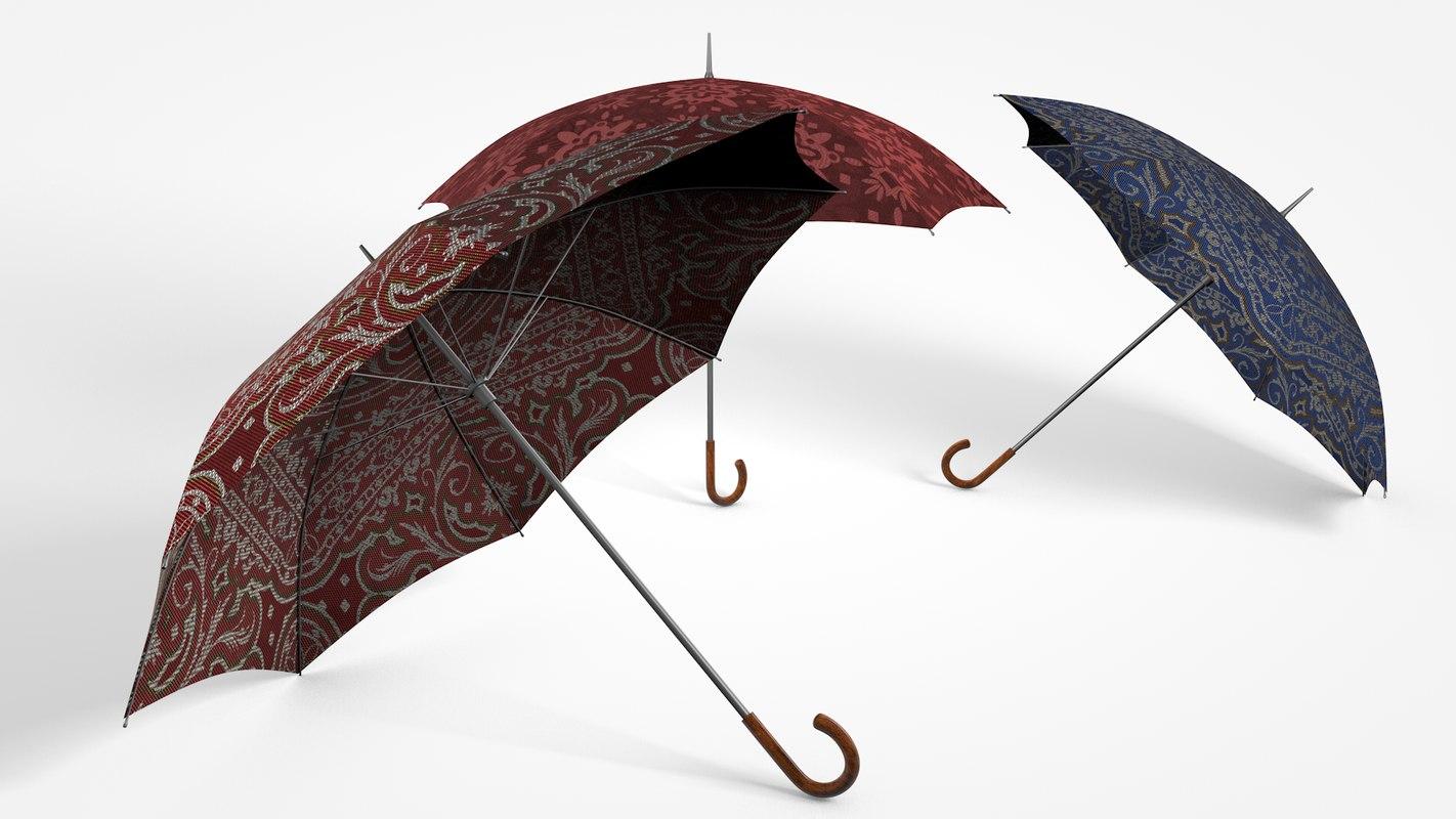 umbrellas 3d model