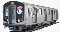 new york r160 subway train 3d model