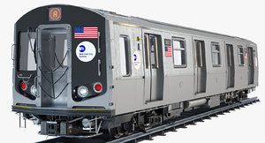 3d new york r160 subway train