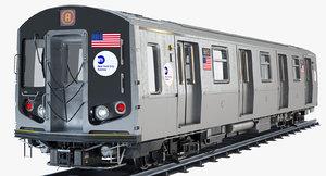 3d new york r160 subway train