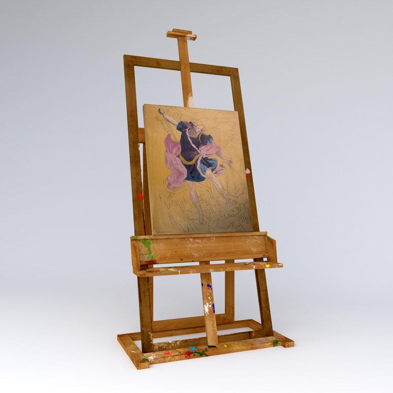 easel painter 3d max