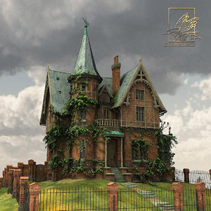 victorian mansion terra cotta 3ds