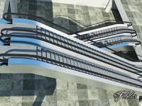3d escalator environment mentalray model