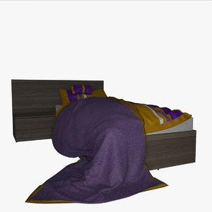 3d v-ray 1 bed mattress model