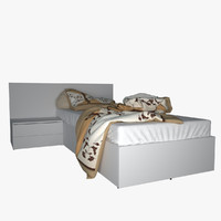 v-ray bed pillow obj