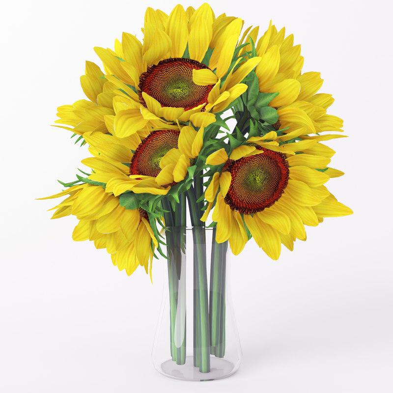 sunflower flover bouquet max