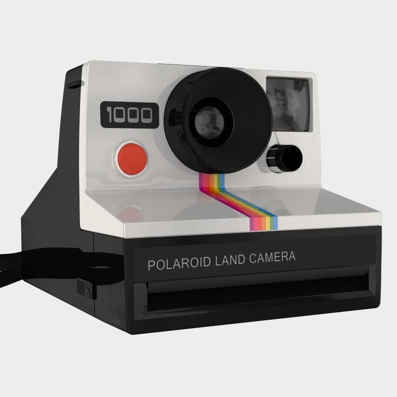 obj polaroid 1000 camera