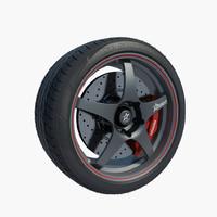 wheel american racing 3d max