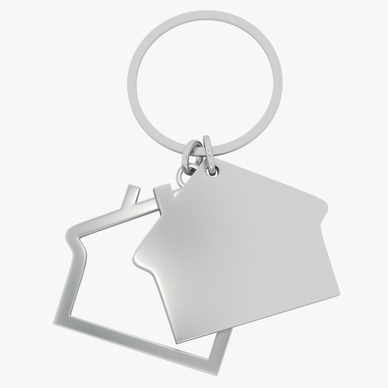 keychain house key 3d model
