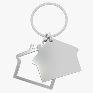 keychain house key 3d model