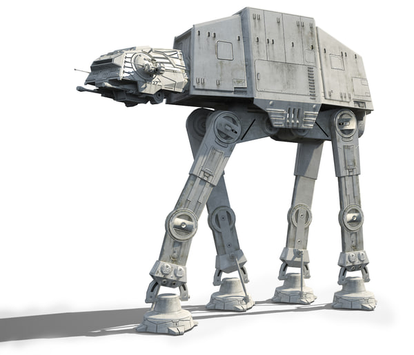 3d model star wars at-at imperial walker