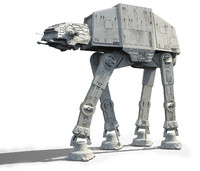 3d model star wars at-at imperial walker