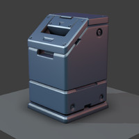 3d max sci-fi trash bucket