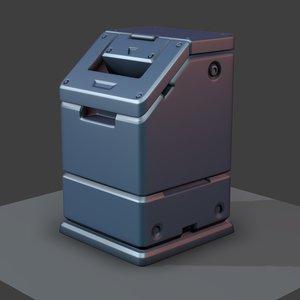 3d max sci-fi trash bucket