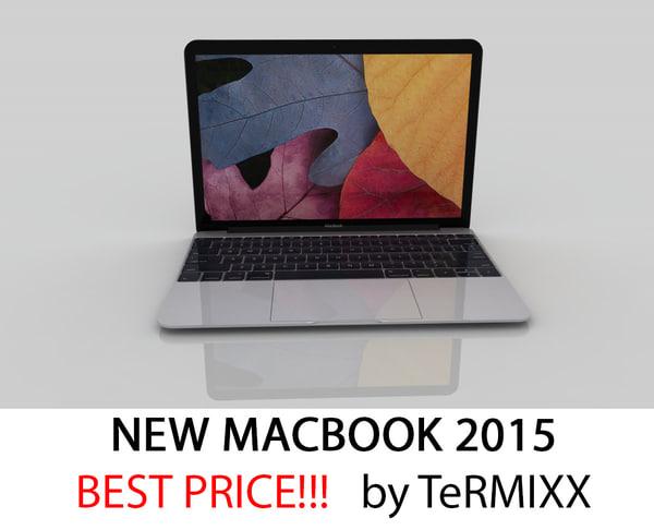 new macbook 2015 3d 3ds