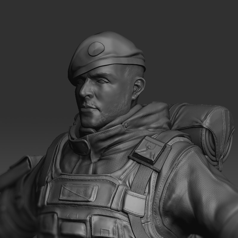 soldier zbrush subtools 3ds