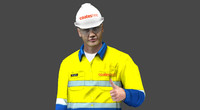 3d model coates hire worker