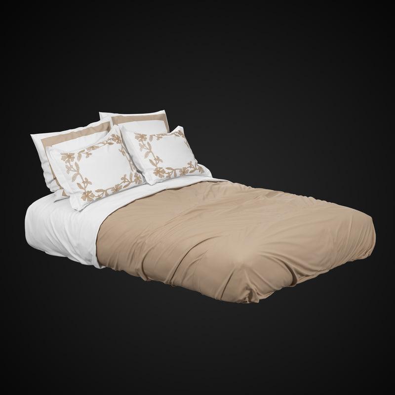 3d queen size bed