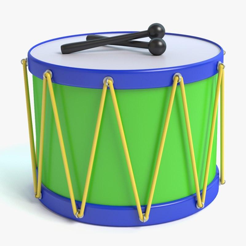 3d toy drum
