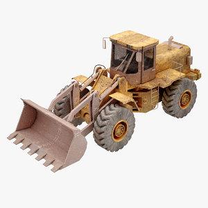 construction loader 3d obj