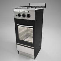 narrow gas stove 3ds