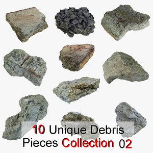 max debris pieces realistic