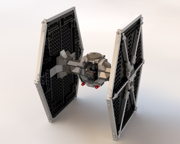 lego tie fighter 3d model