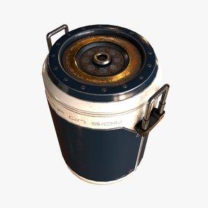 obj sci-fi barrel
