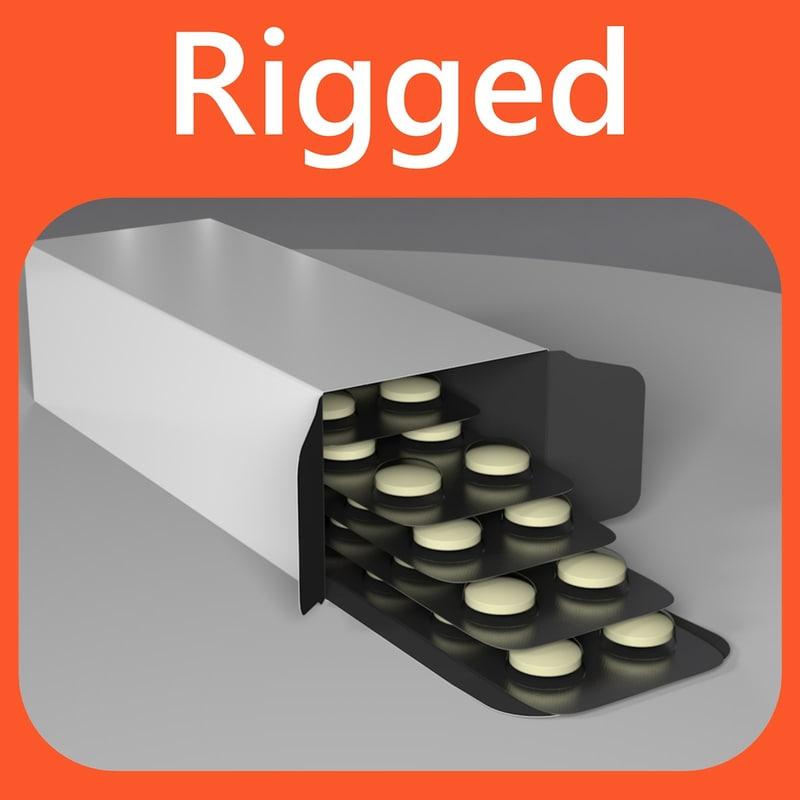 rigged pills 3d c4d