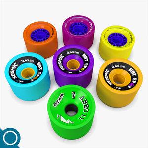 3d longboard wheels