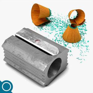 sharpener stationery 3d c4d
