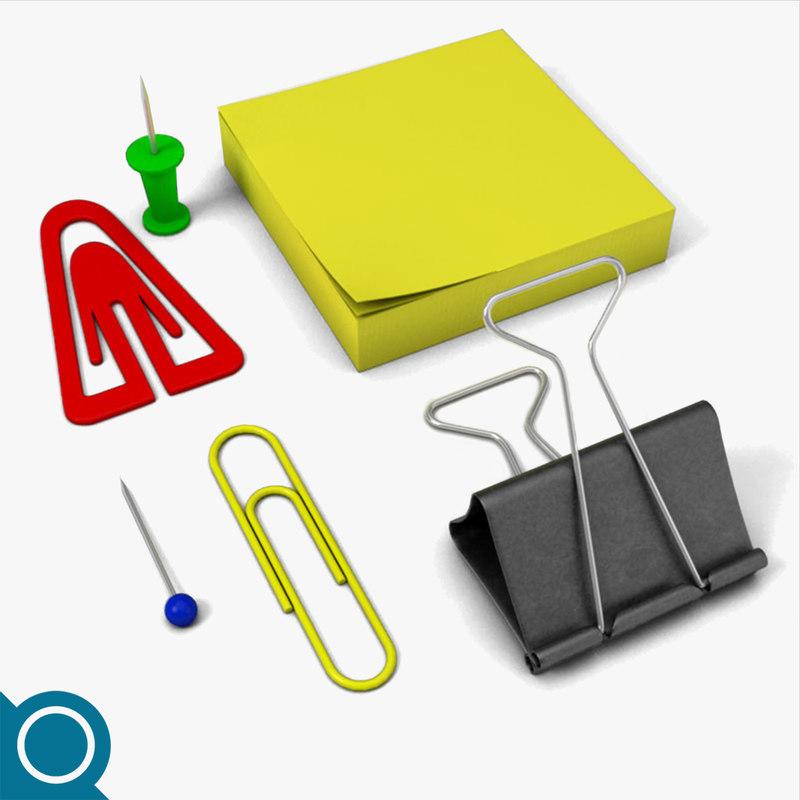free clips pins 3d model