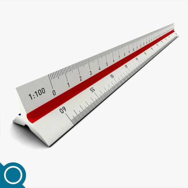 scale ruler obj