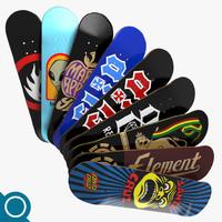 3dsmax skate skateboard deck
