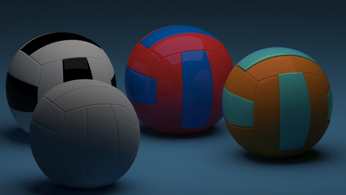 3dsmax volleyball modelling