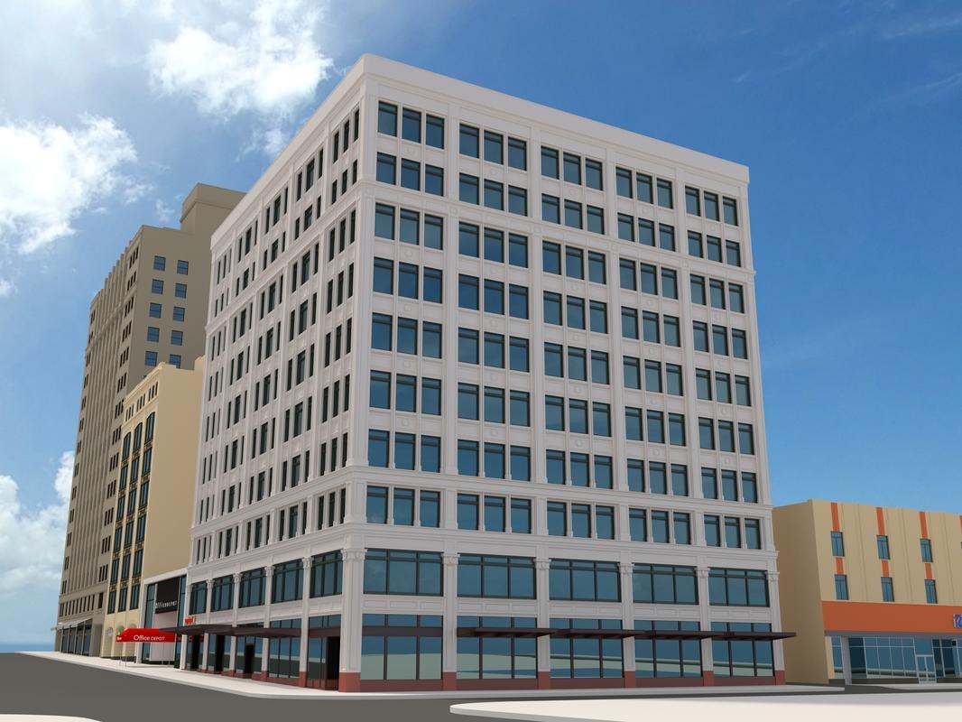 downtown seattle city block 3d model