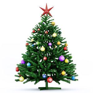 3d model green christmas tree
