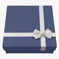 c4d giftbox 4 blue