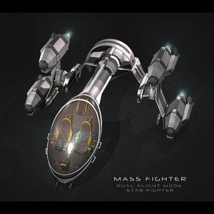 sci-fi fighter mass obj