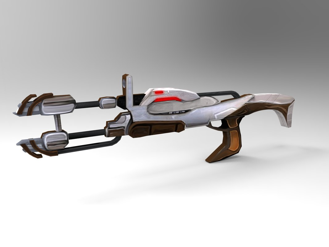 3d futuristic weapons